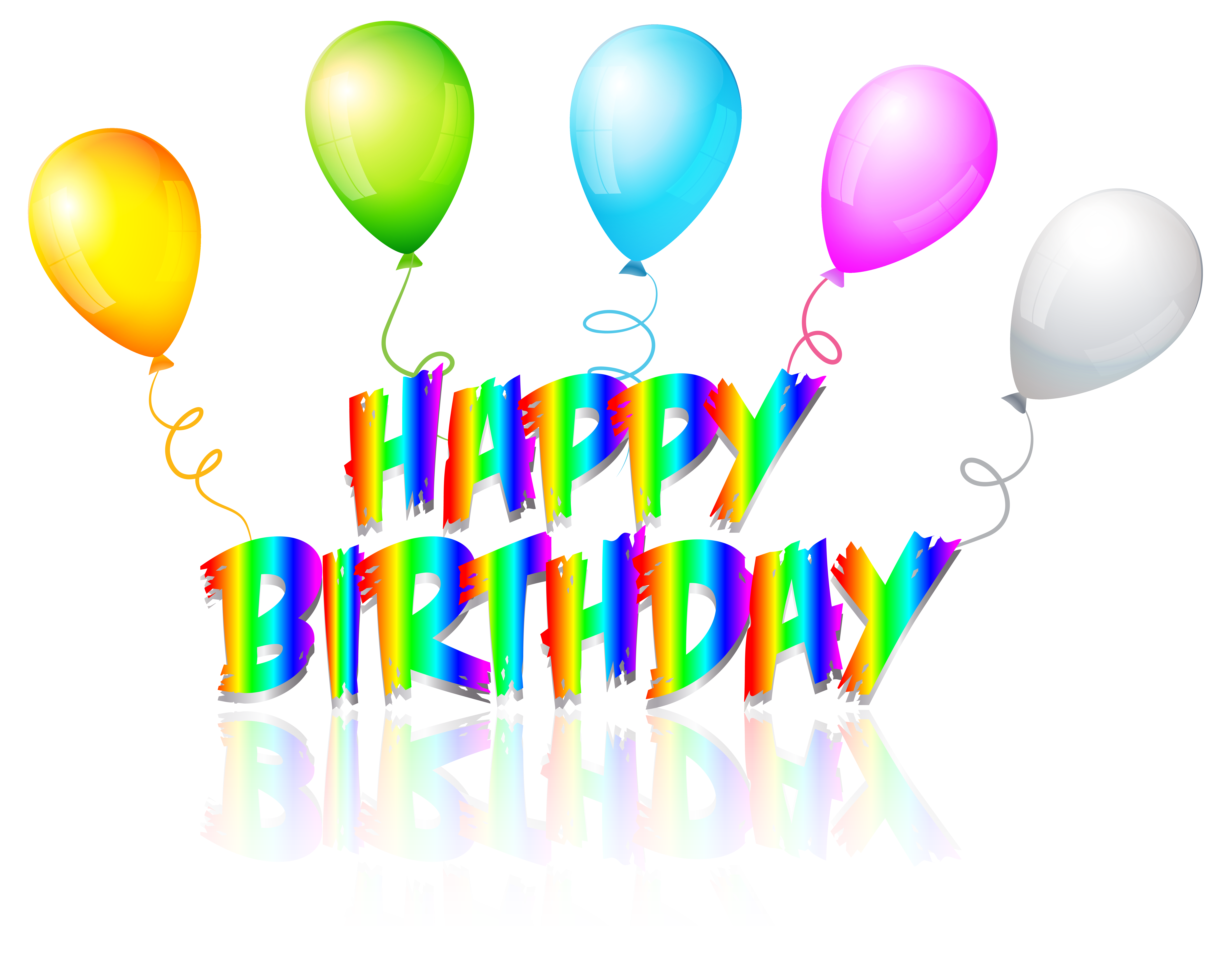 Clipart happy text. Rainbow birthday transparent png