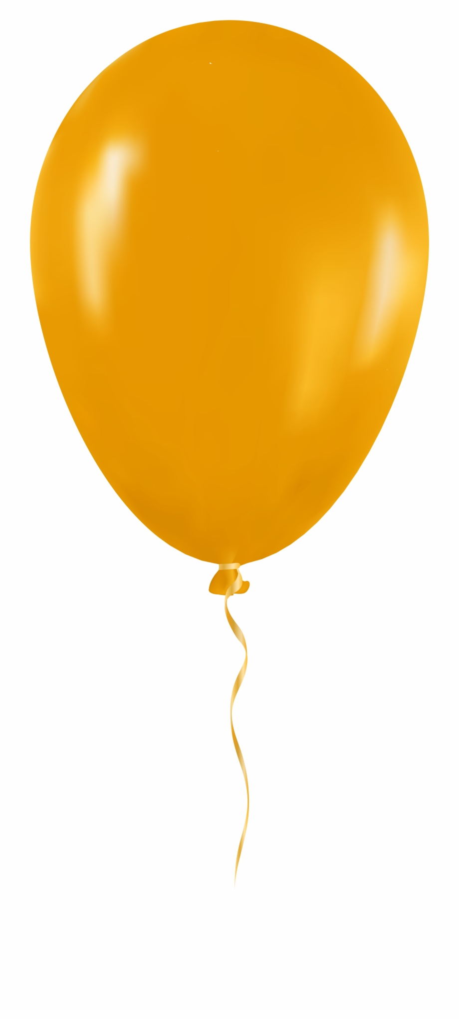Yellow png clip art. Clipart balloon transparent background