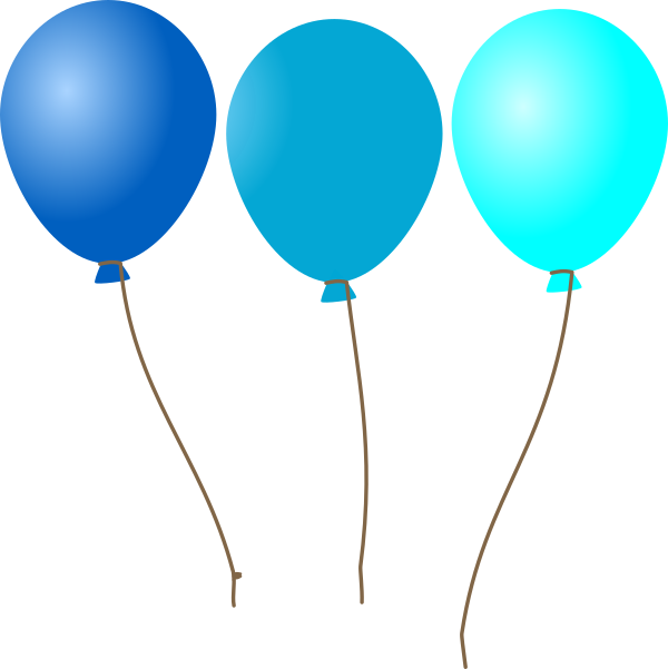 Clipart balloon turquoise. Emmas blue balloons clip