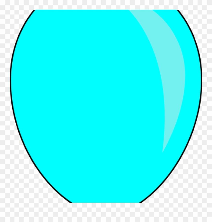 Single clip art at. Clipart balloon turquoise