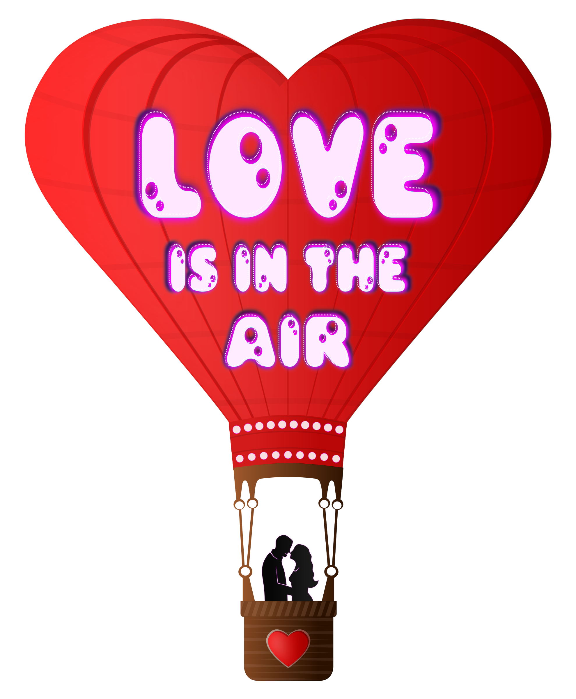 Day love is in. Clipart balloon valentines