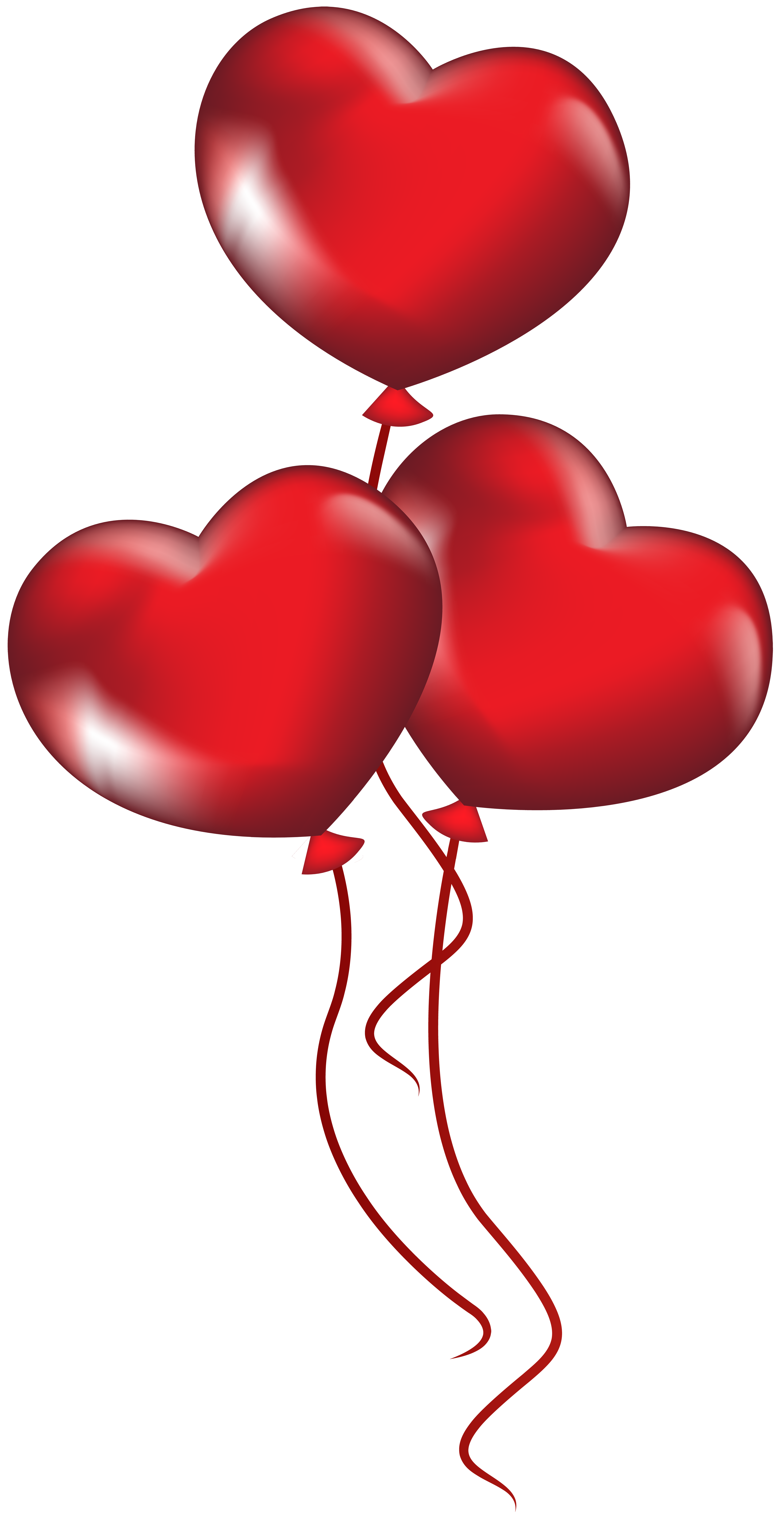 Heart balloons transparent png. Clipart balloon valentines