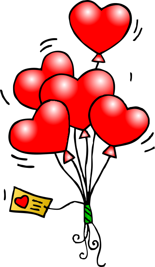 Mailbox clipart valentine's day. Heart balloons t free