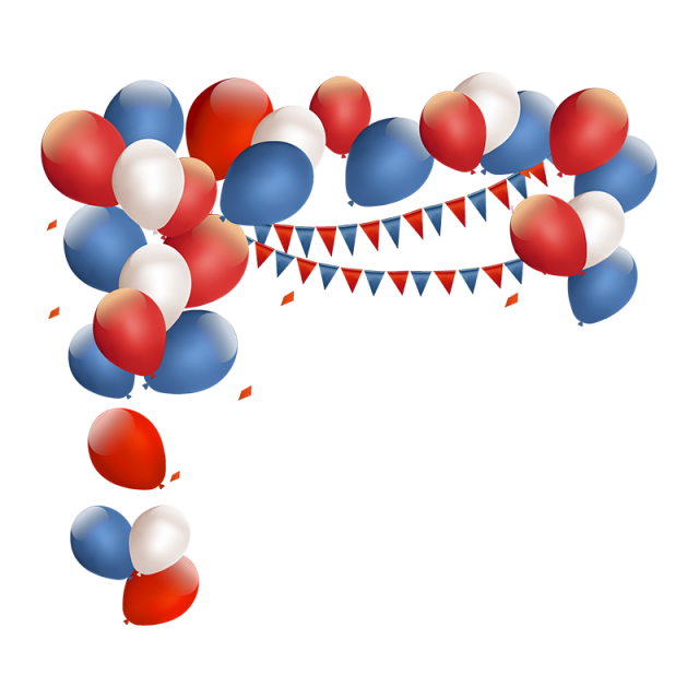 Red and blue birthday. Clipart balloon vector