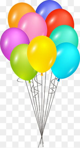 Color cartoon happy birthday. Clipart balloon vector