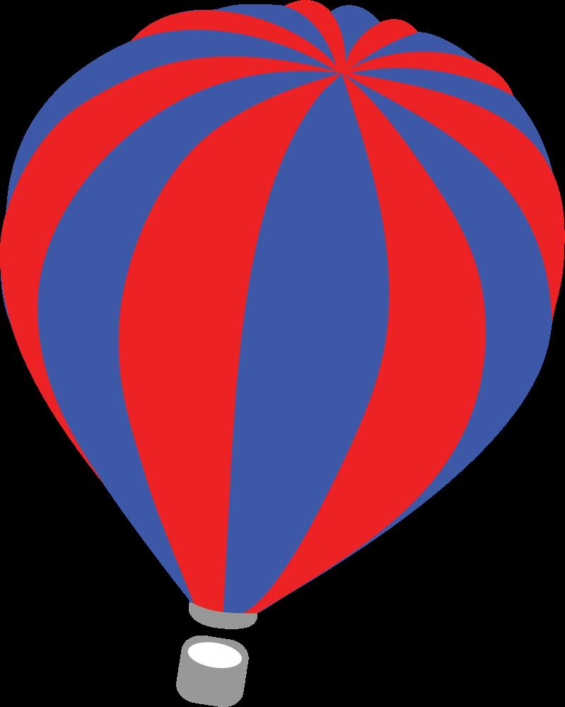 Hot air big image. Clipart balloon vector