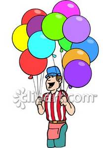 Royalty free picture . Clipart balloon vendor