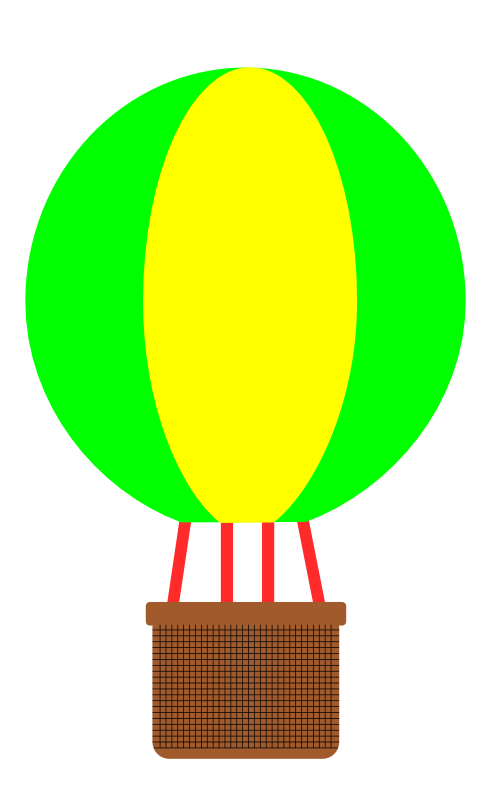 Hot air balloons in. Clipart balloon vintage