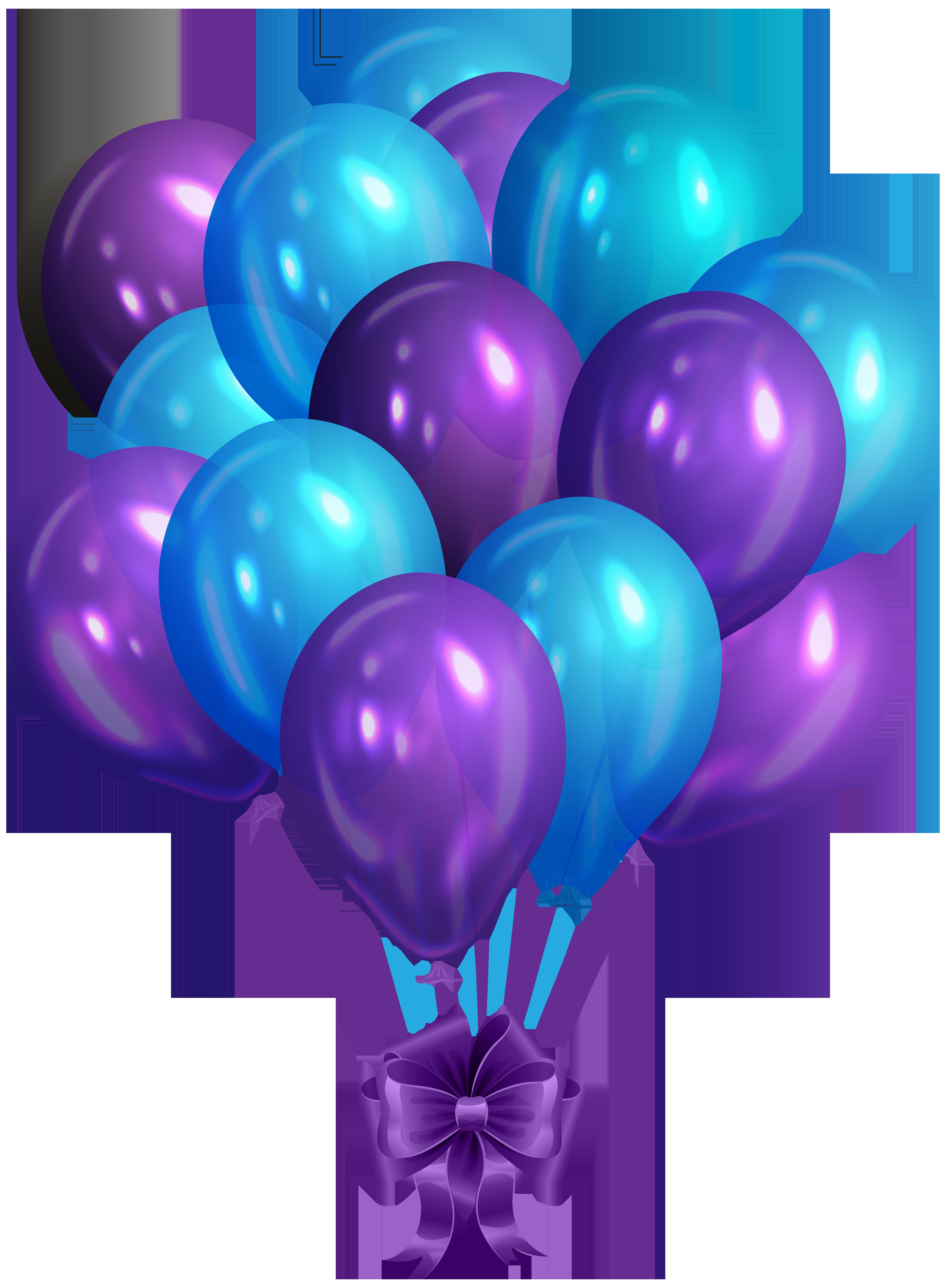 Lavender clipart lavender bunch. Blue purple of balloons