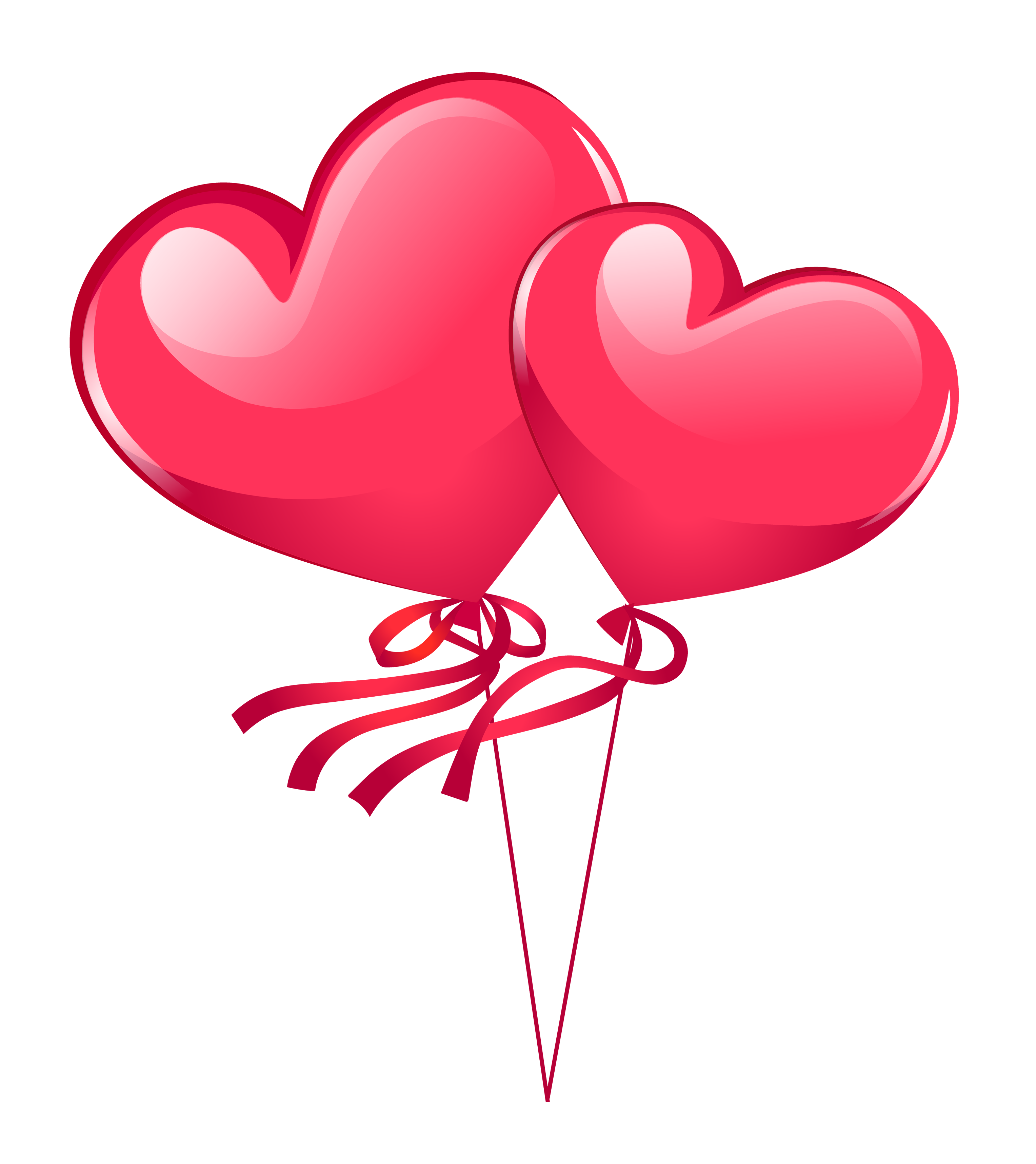 Clipart balloon wedding. Heart balloons png image