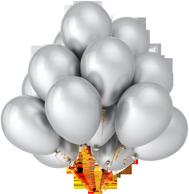 Clipart balloon wedding. Transparent silver balloons gallery