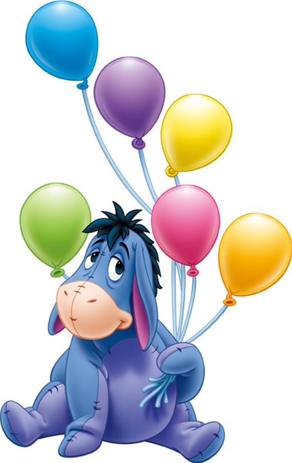 Visual art eeyore things. Clipart balloon winnie the pooh