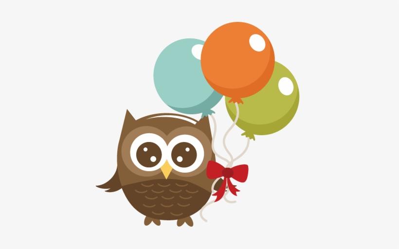 Owl with clip art. Clipart balloon winter