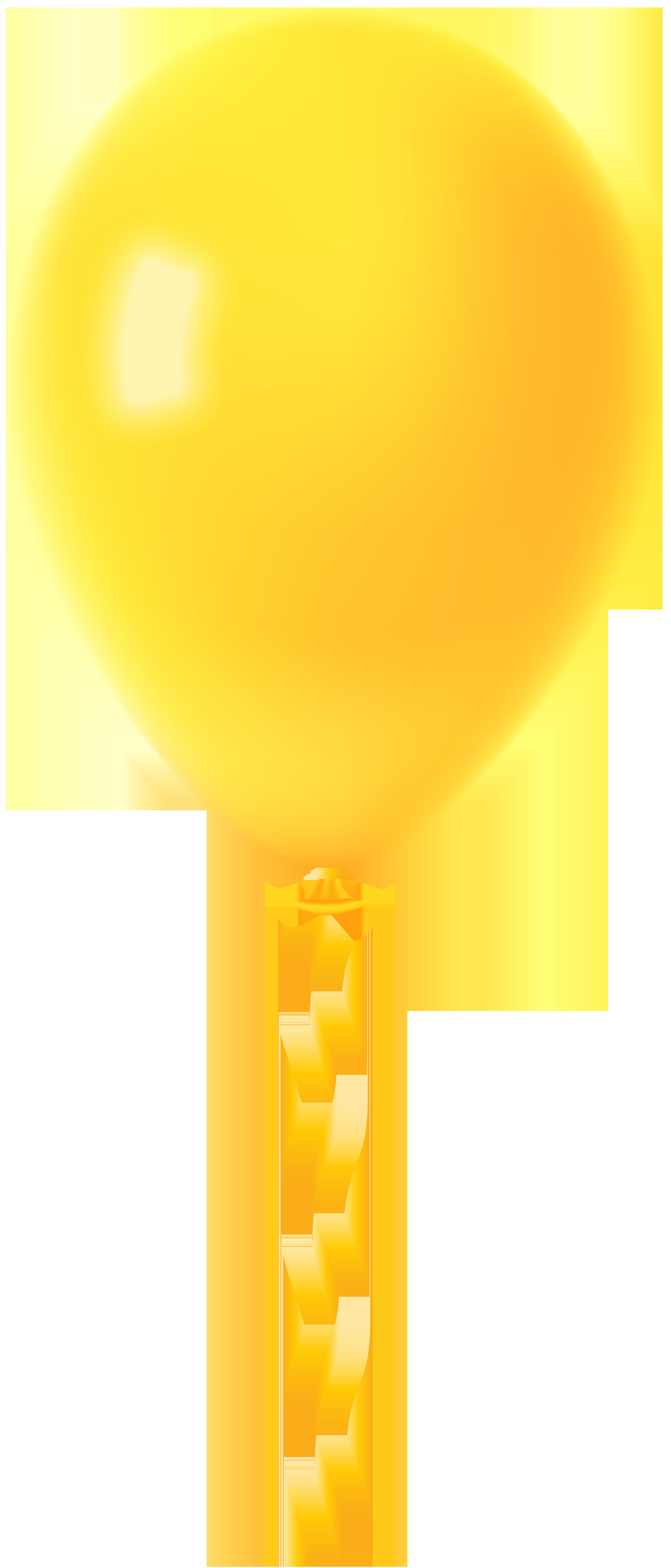 Clipart balloon yellow. Transparent png clip art