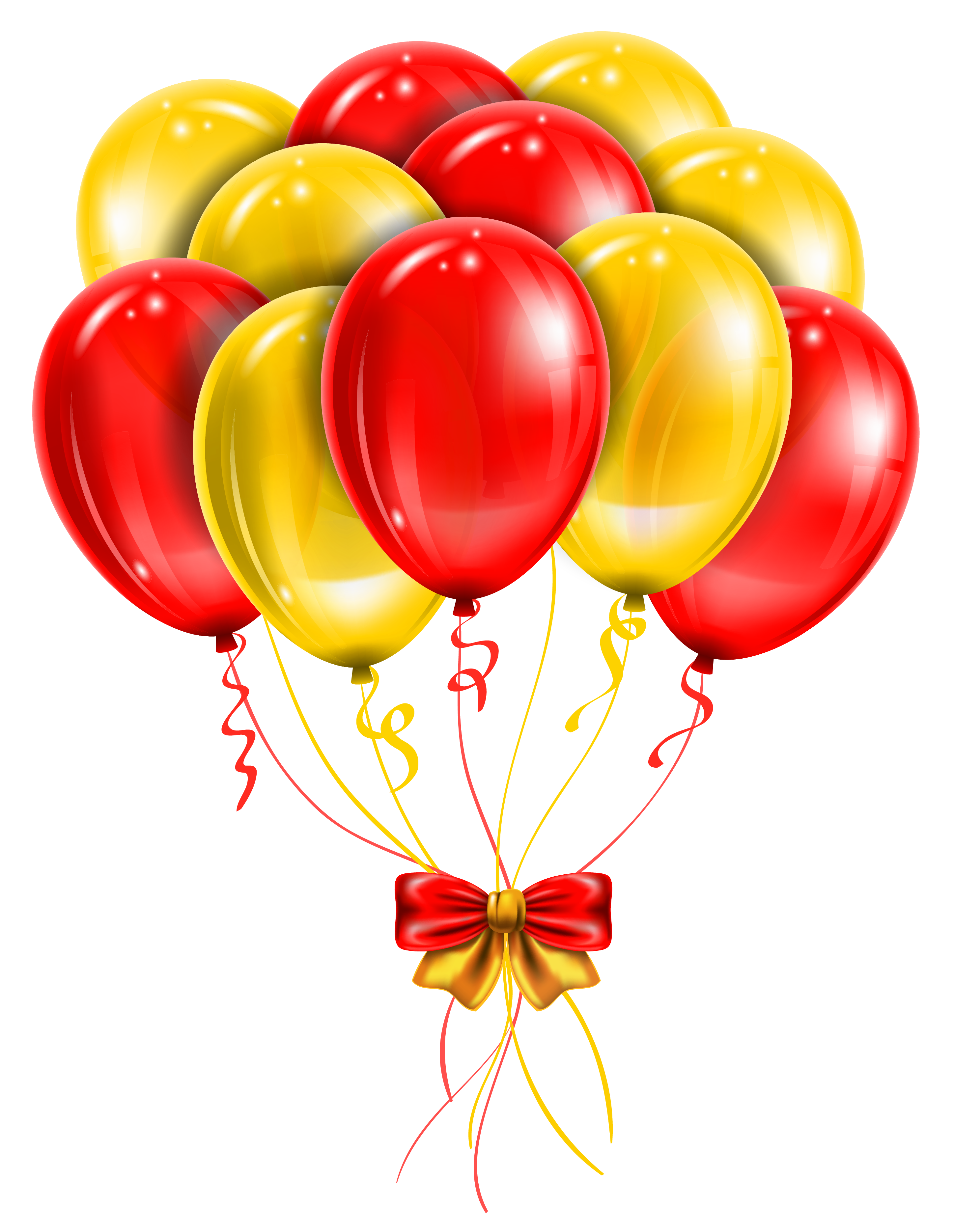 Clipart balloon yellow. Transparent red balloons png