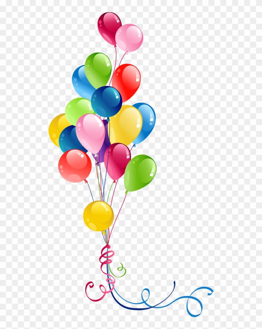 Transparent bunch balloon png. Balloons clipart ballon