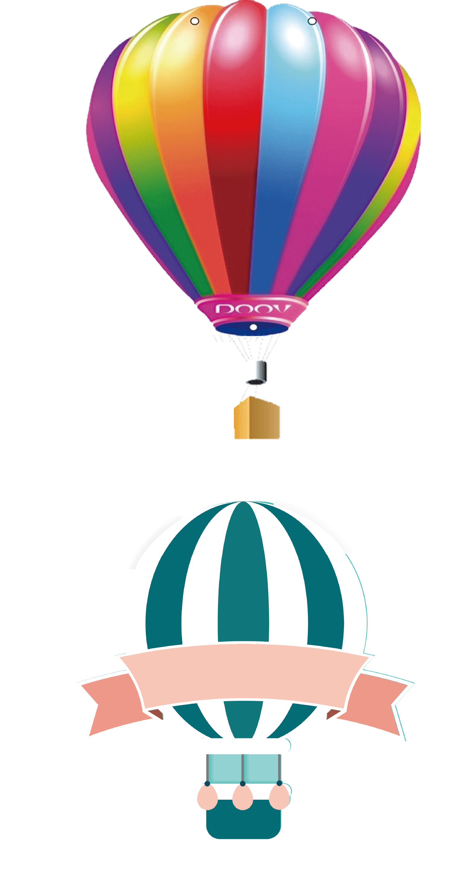 Balloon basket illustration the. Parachute clipart air ballon
