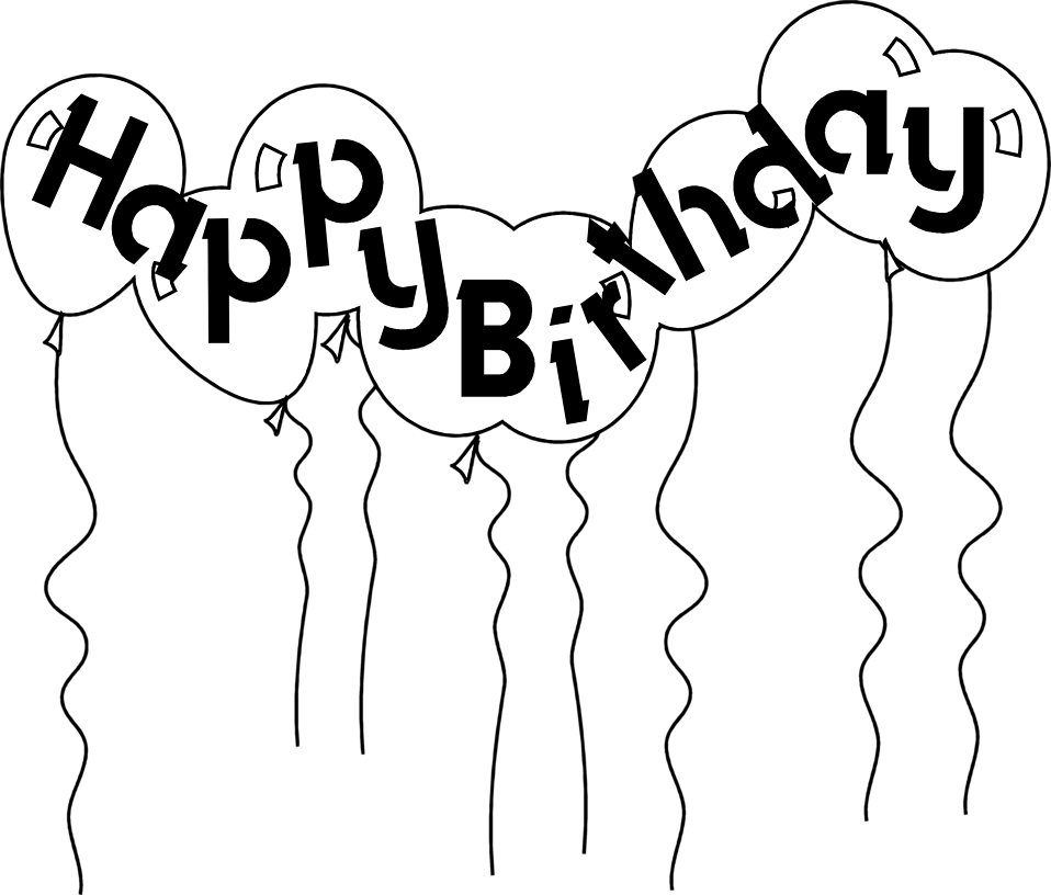 Clipart birthday outline.  collection of happy