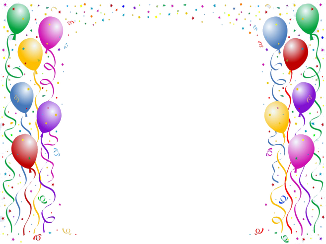 Handpicked cool borders for. Clipart frame happy birthday
