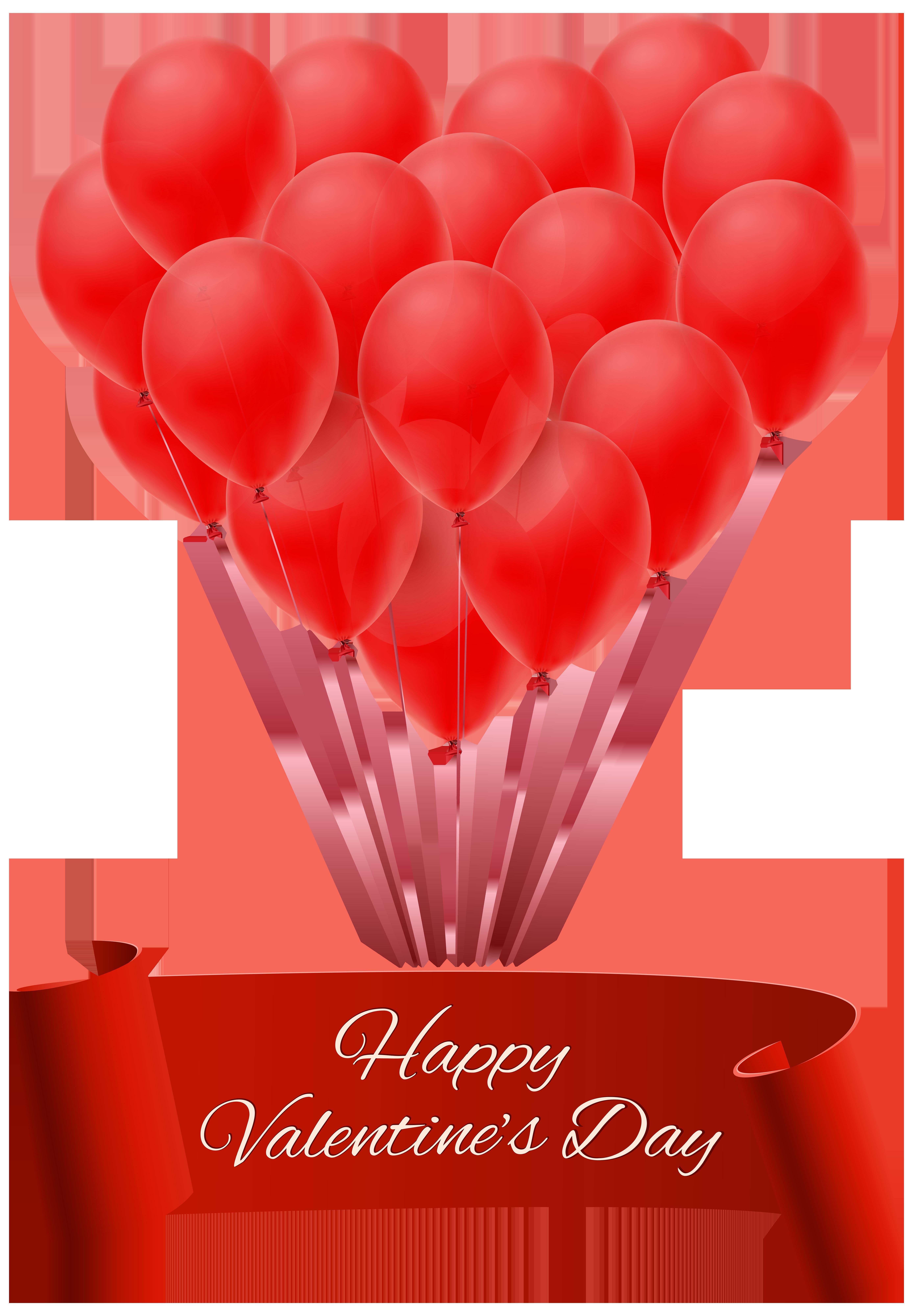 Clipart balloons cartoon. Happy valentine s day