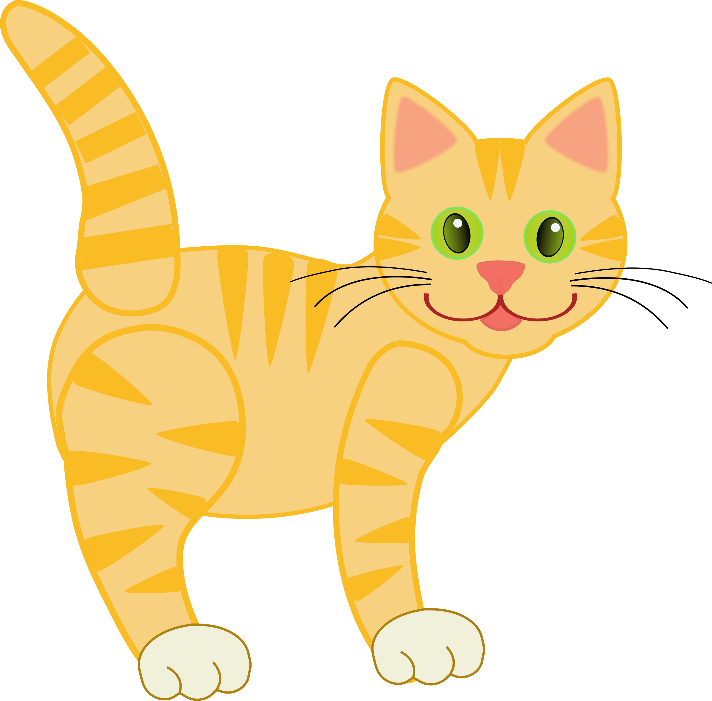 Yellow tiger by deb. Winter clipart cat