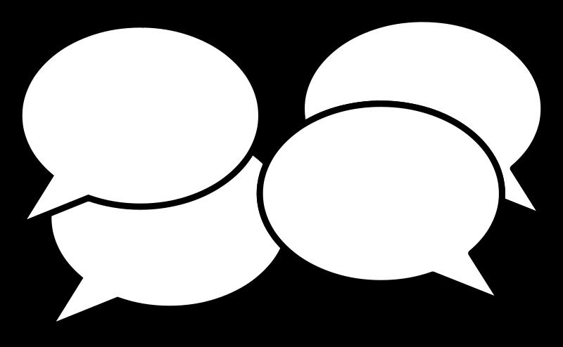 Building a conversation image. Clouds clipart jpeg