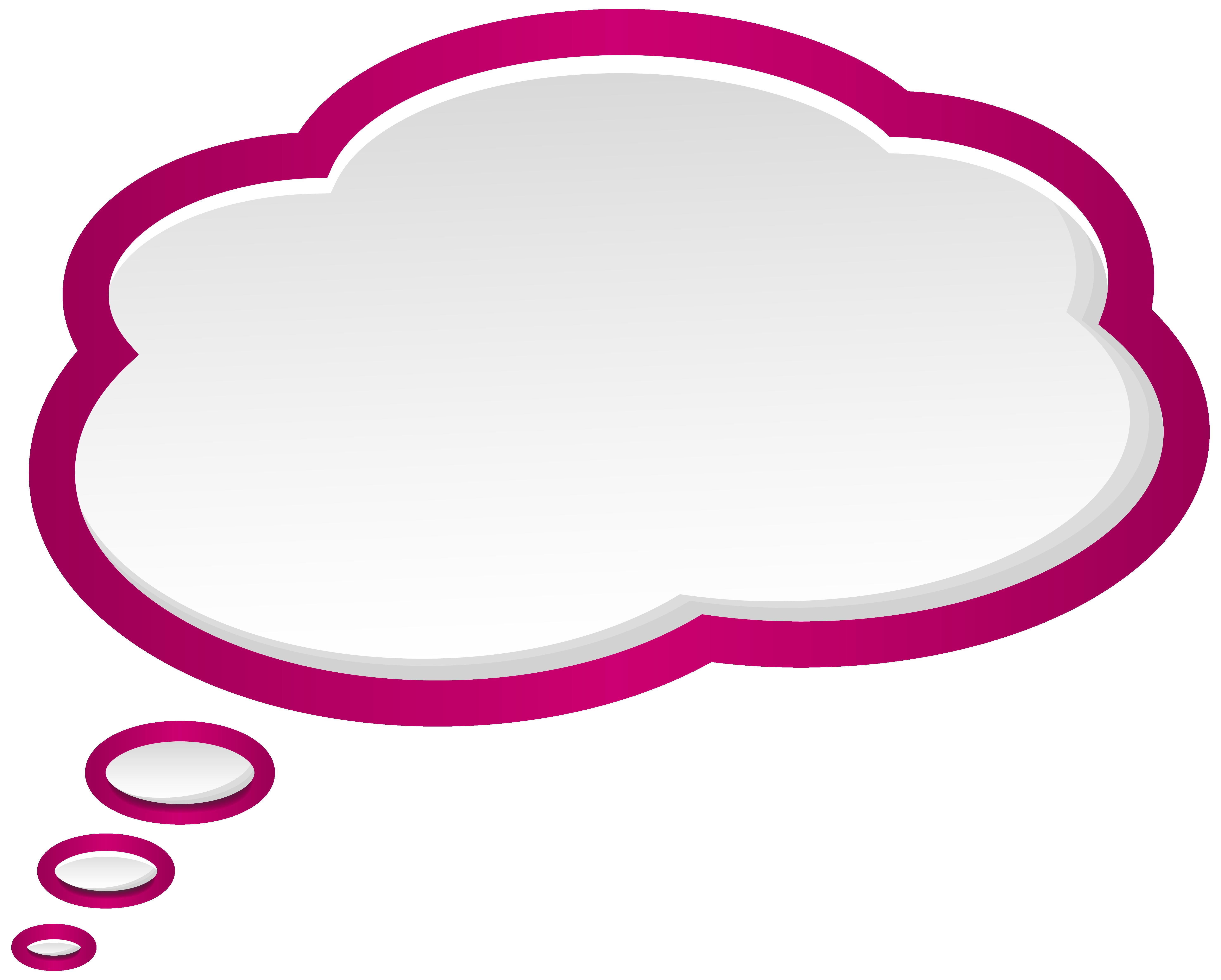 Bubble speech pink white. Einstein clipart hint