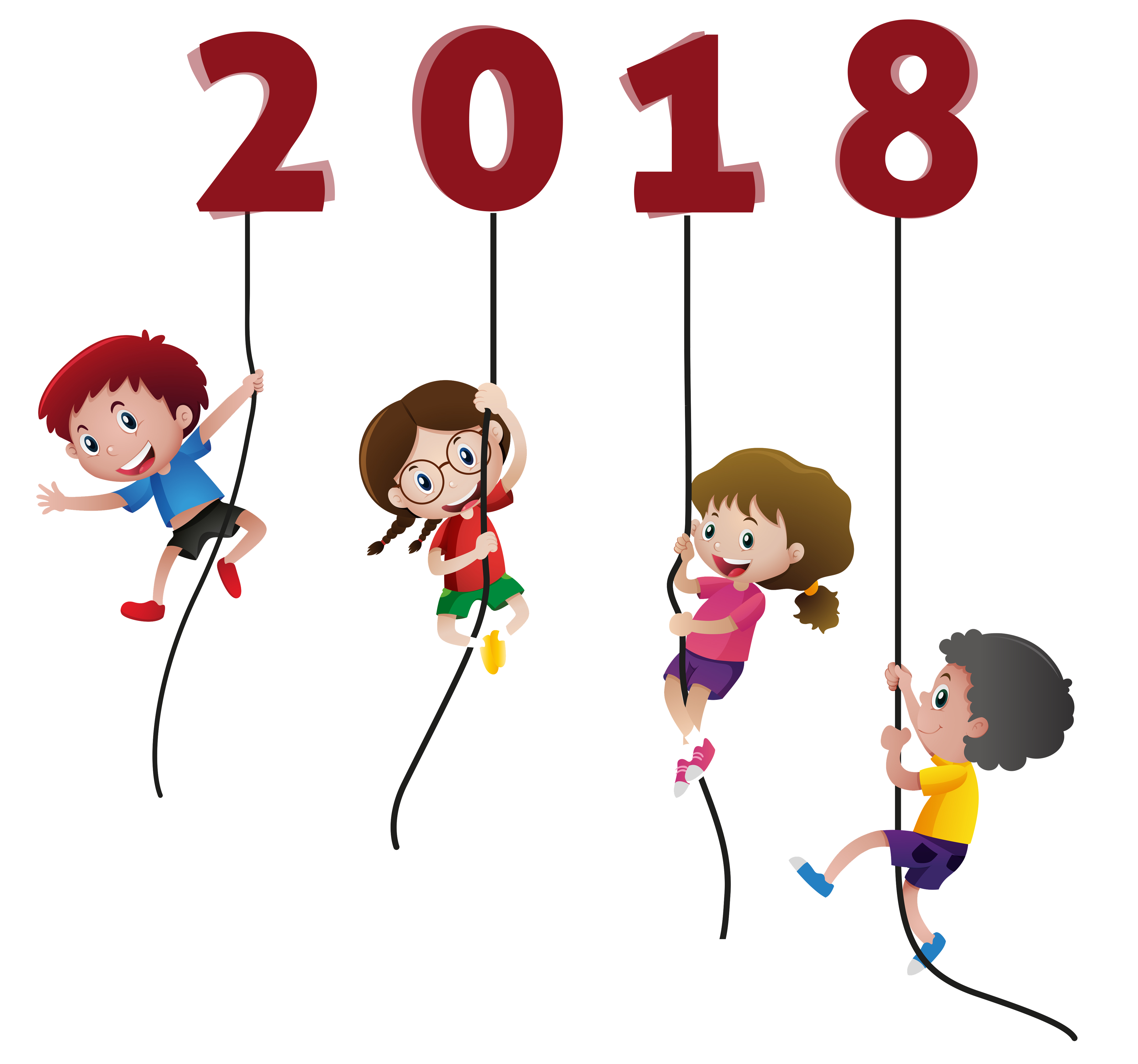 Clipart cat new year. Happy kids funny without