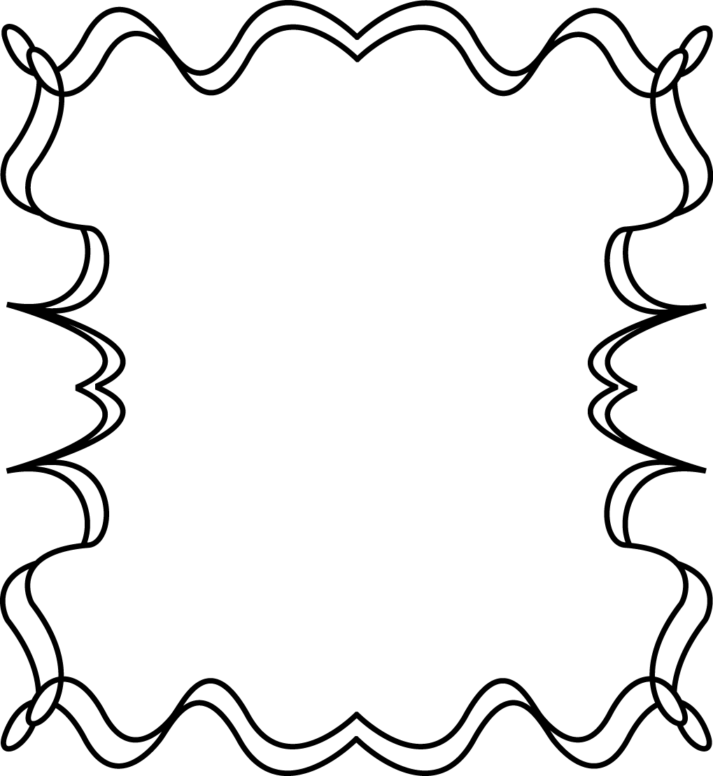 Rectangle squiggly frames illustrations. Lines clipart zigzag