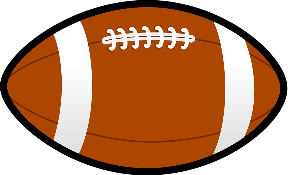 Clear background pencil and. Football clipart plain