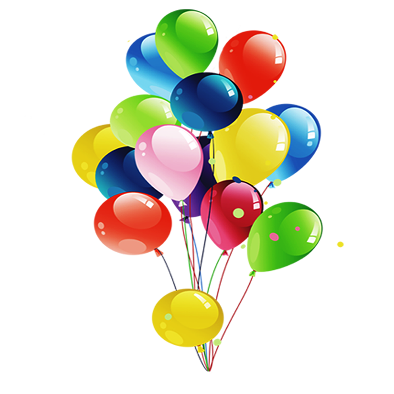 Balloon Birthday Gift Party Clip art - Birthday Balloons 800*800 ...