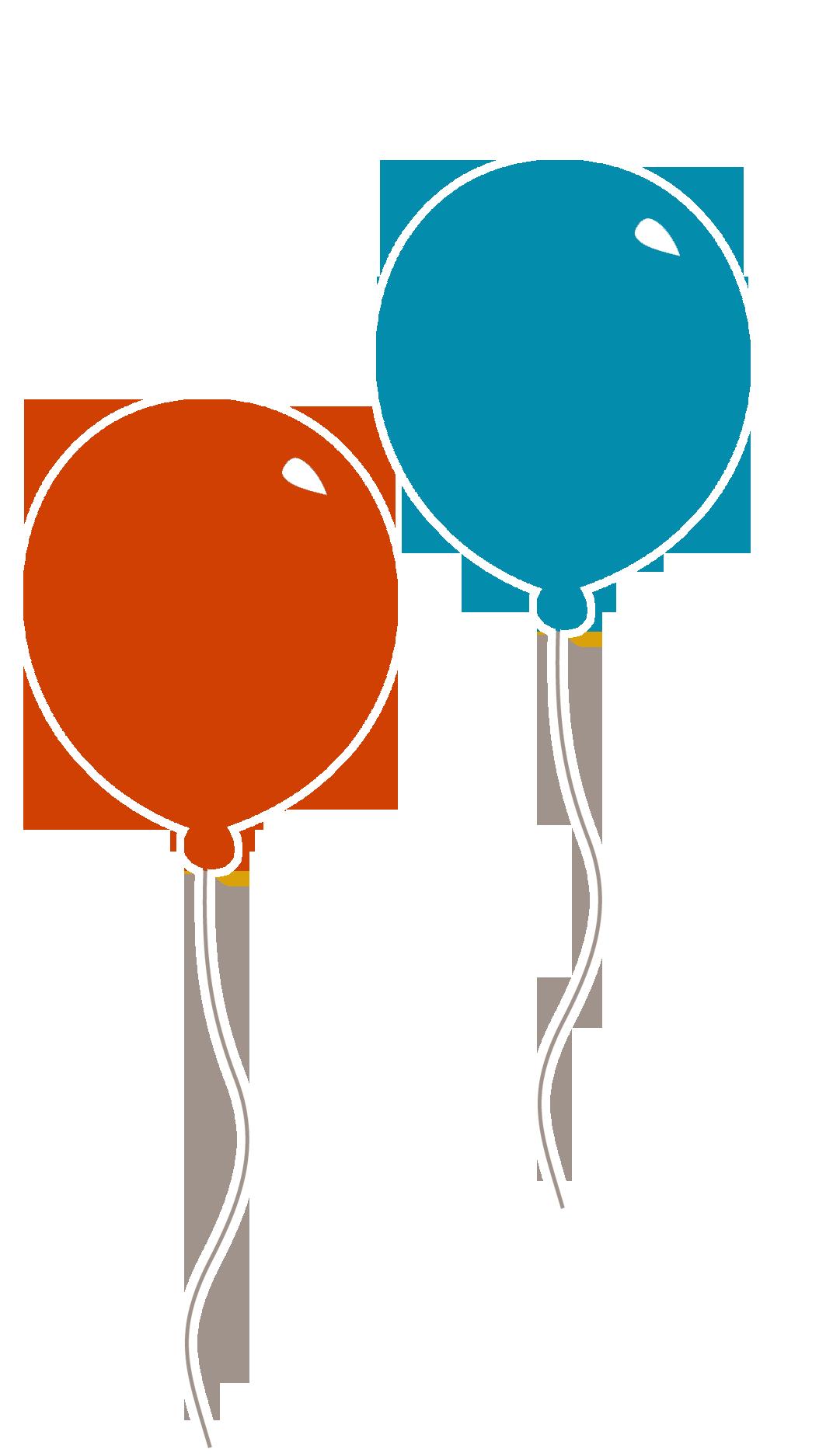 Peach clipart balloon. Red blue clip art