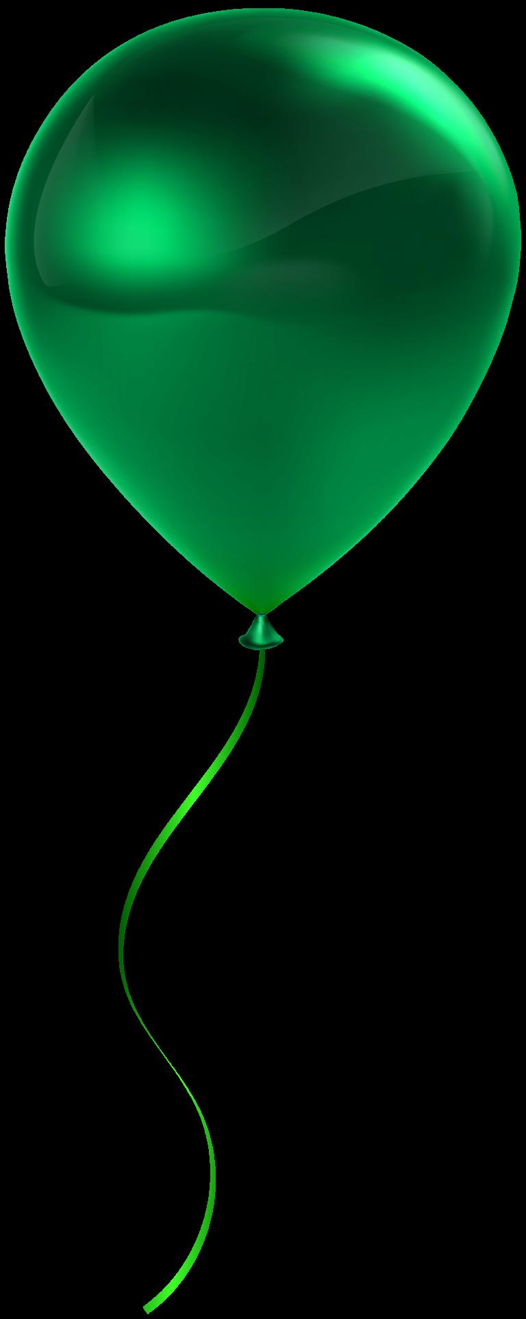 Green balloon collection png. Clipart balloons printable