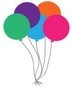 Clipart balloons printable. Free happy birthday and