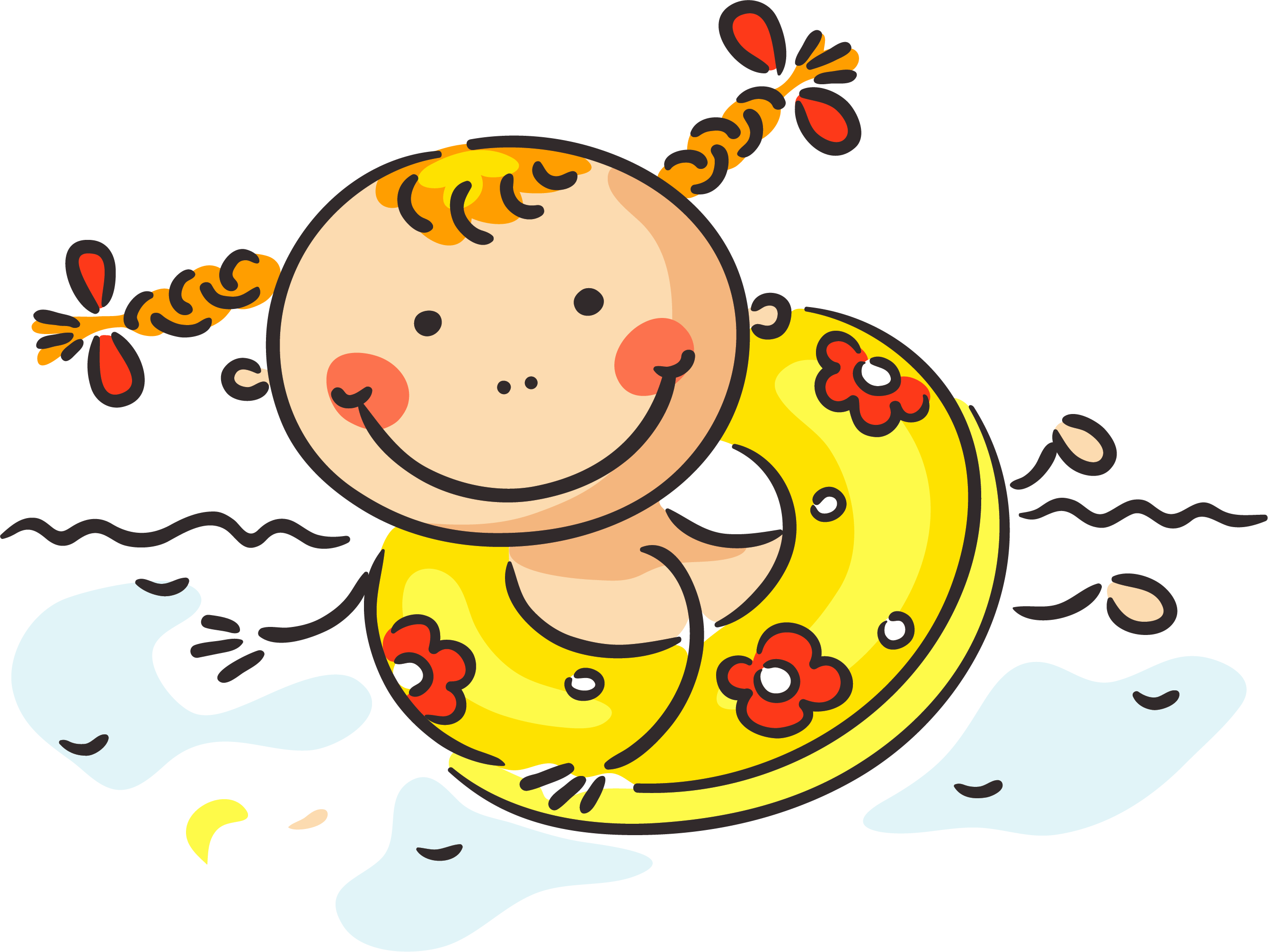 Cartoon Child Summer Clip art