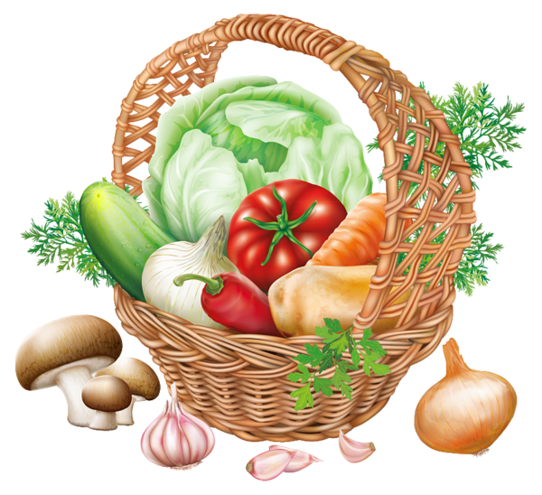 Basket with vegetables png. Clipart fruit fresh fruit