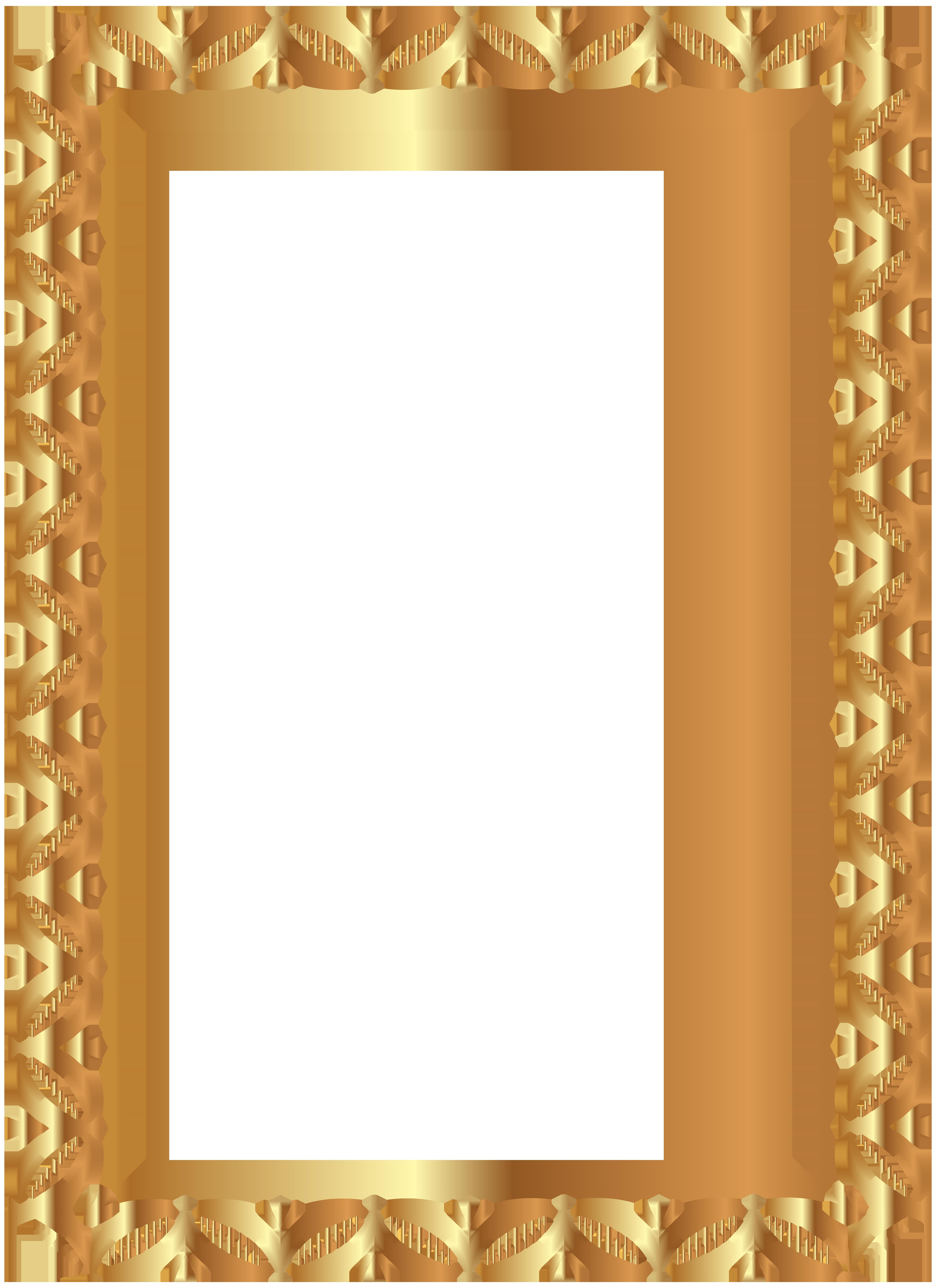Gold border transparent clip. Frame clipart png
