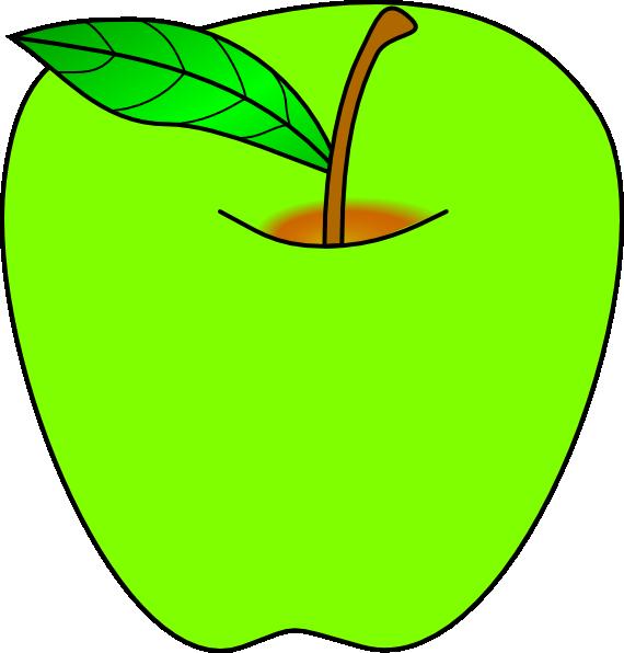 Green apple clip art. Nut clipart kasuy