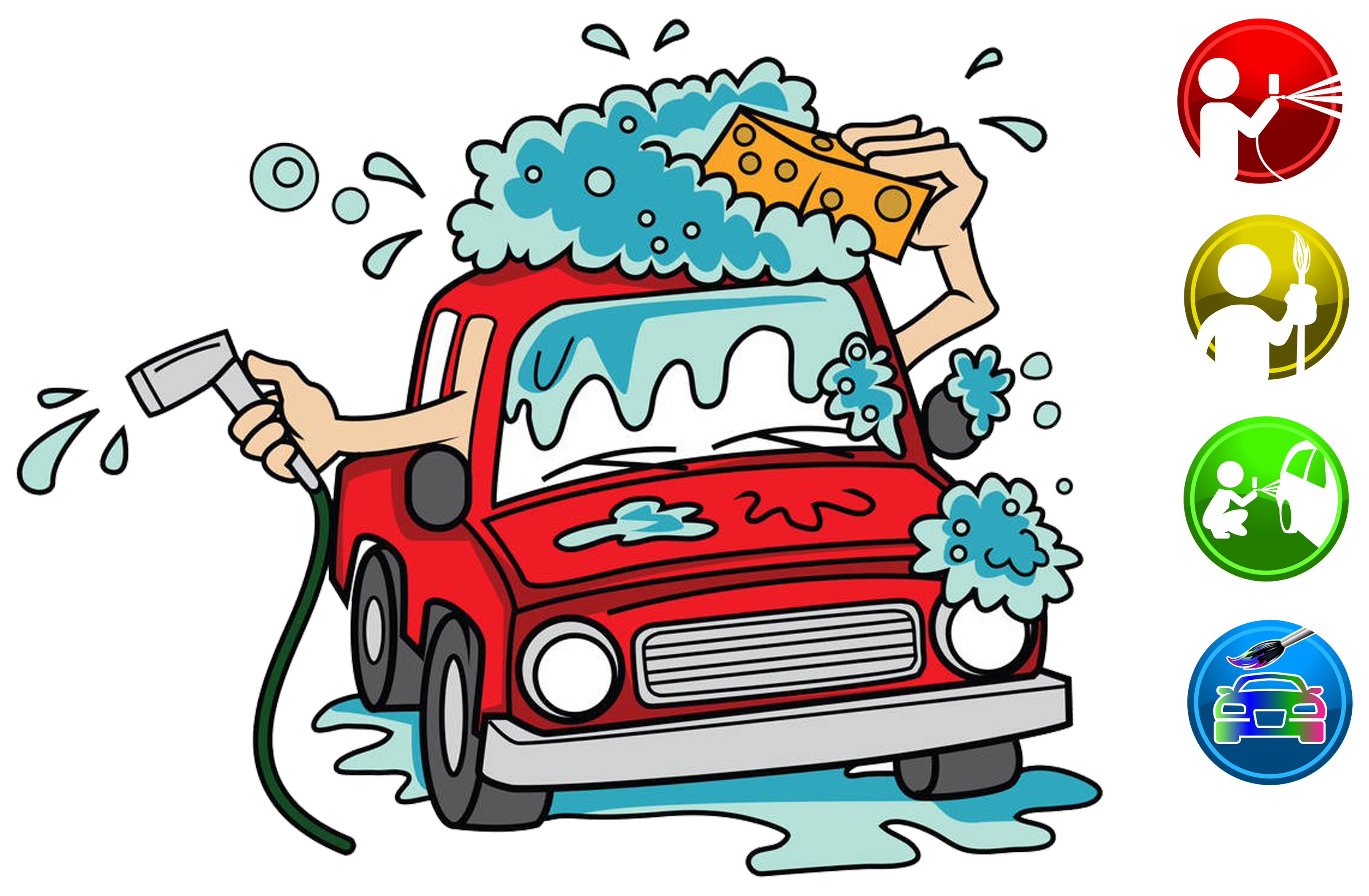 Wash cartoon clip art. Clipart car machine