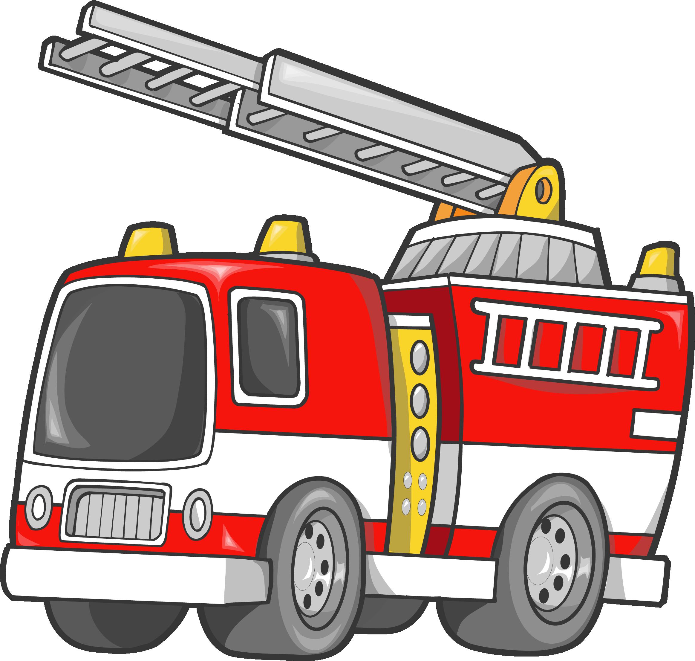 Car fire engine firefighter. Donut clipart truck