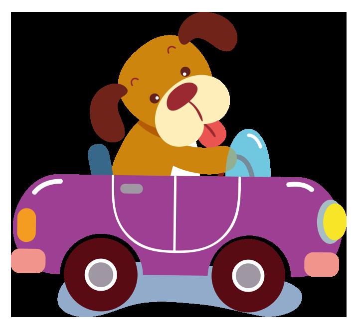 Cartoon purple clip art. Driving clipart car owner