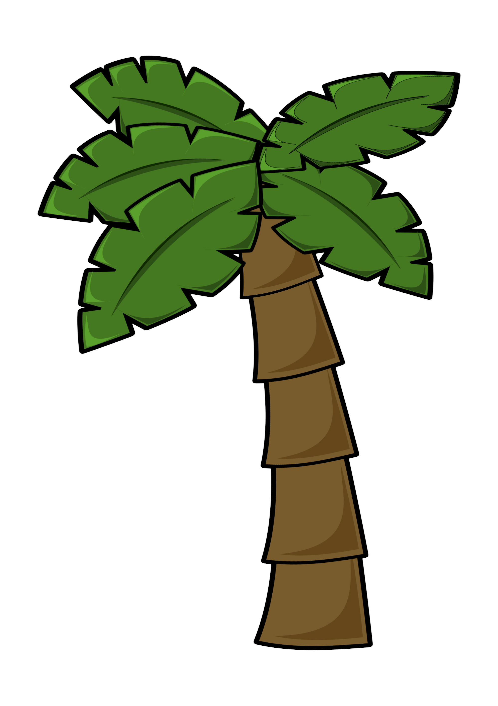 Tree clipart lake. Free simple cartoon palm