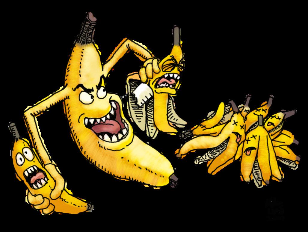 Clipart banana character. Zz evil by zenzmurfy