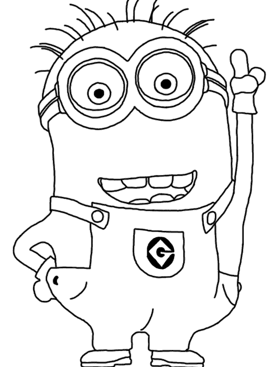 Clipart banana colouring sheet. Minion coloring pages party