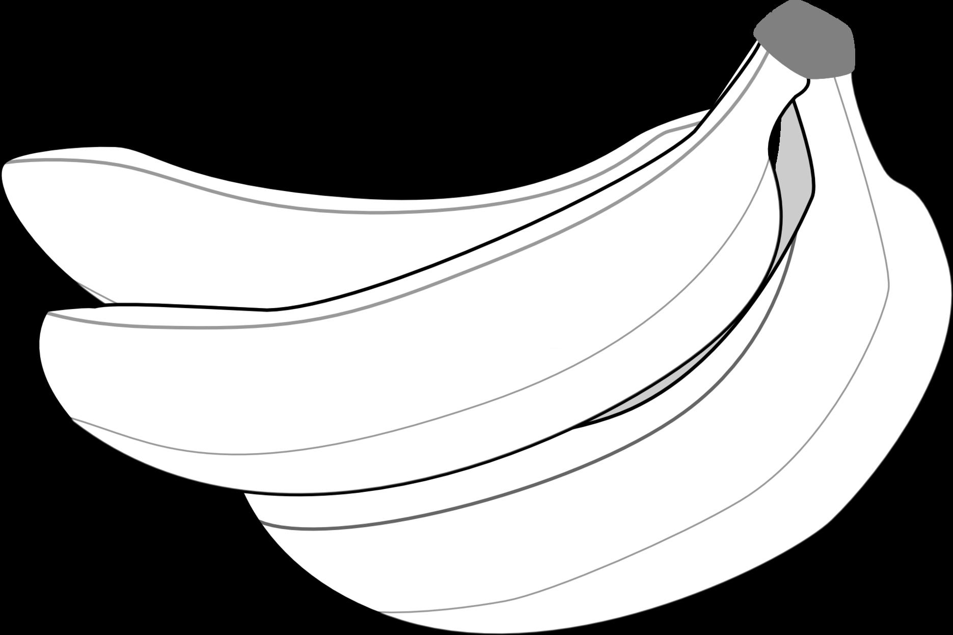 Clipart banana colouring sheet. Coloring pictures of bananas