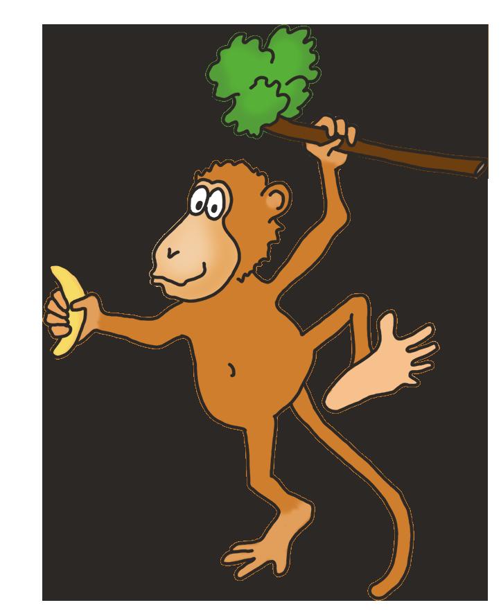 Funny clipart banana. Monkey drawings clip art