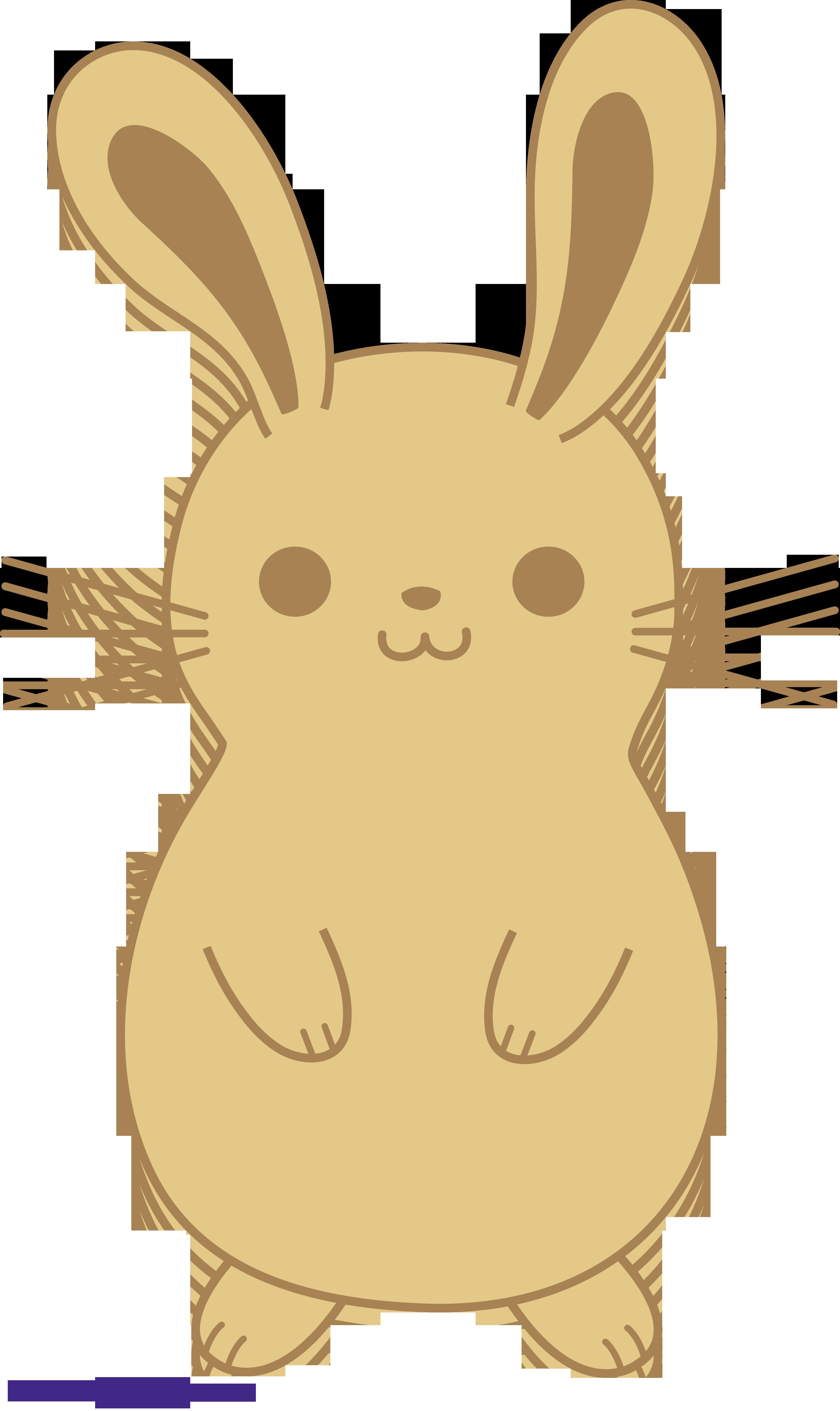 Clipart rabbit line art. Bunny cute brown sweet