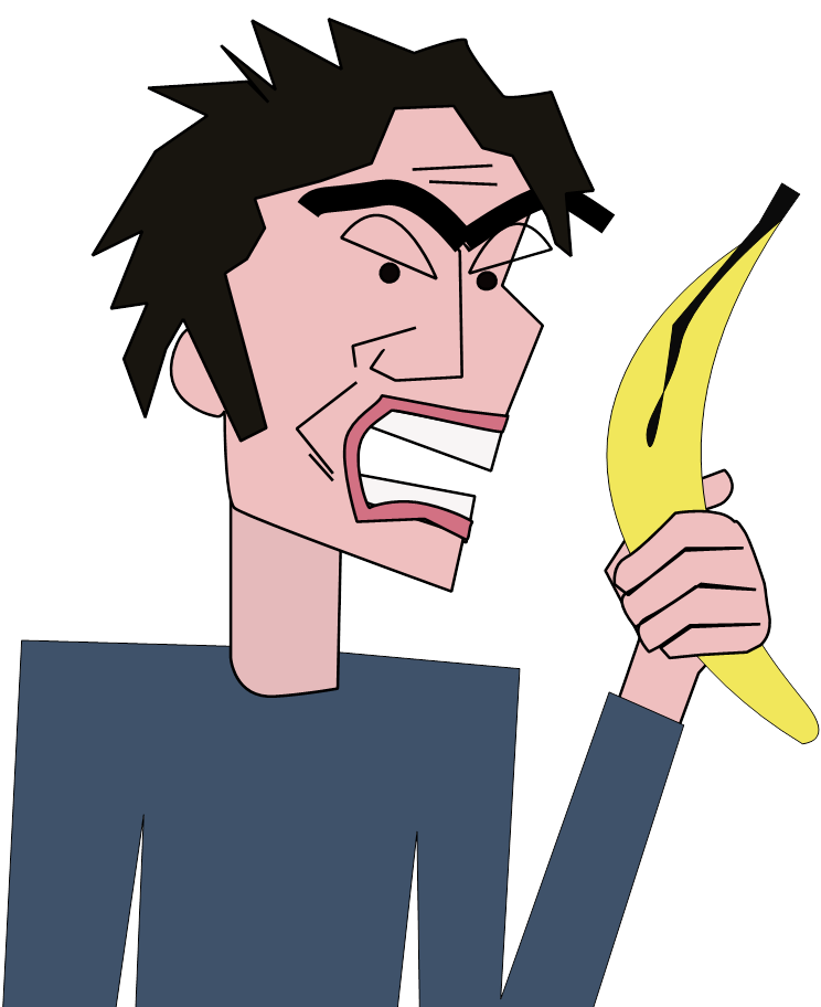 Go bananas larry catching. Clipart eye banana