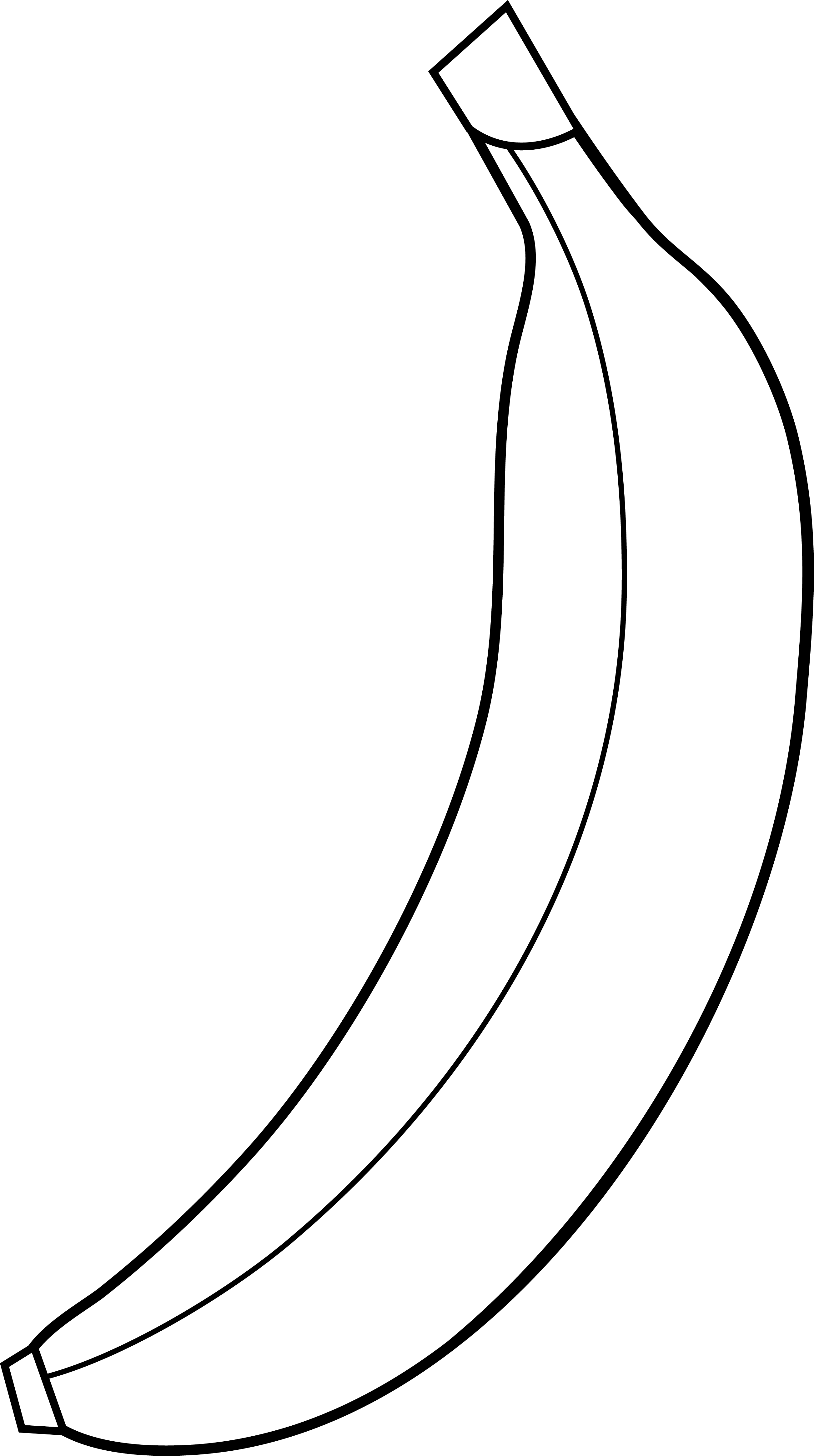 Line clipart single. Free banana clip art