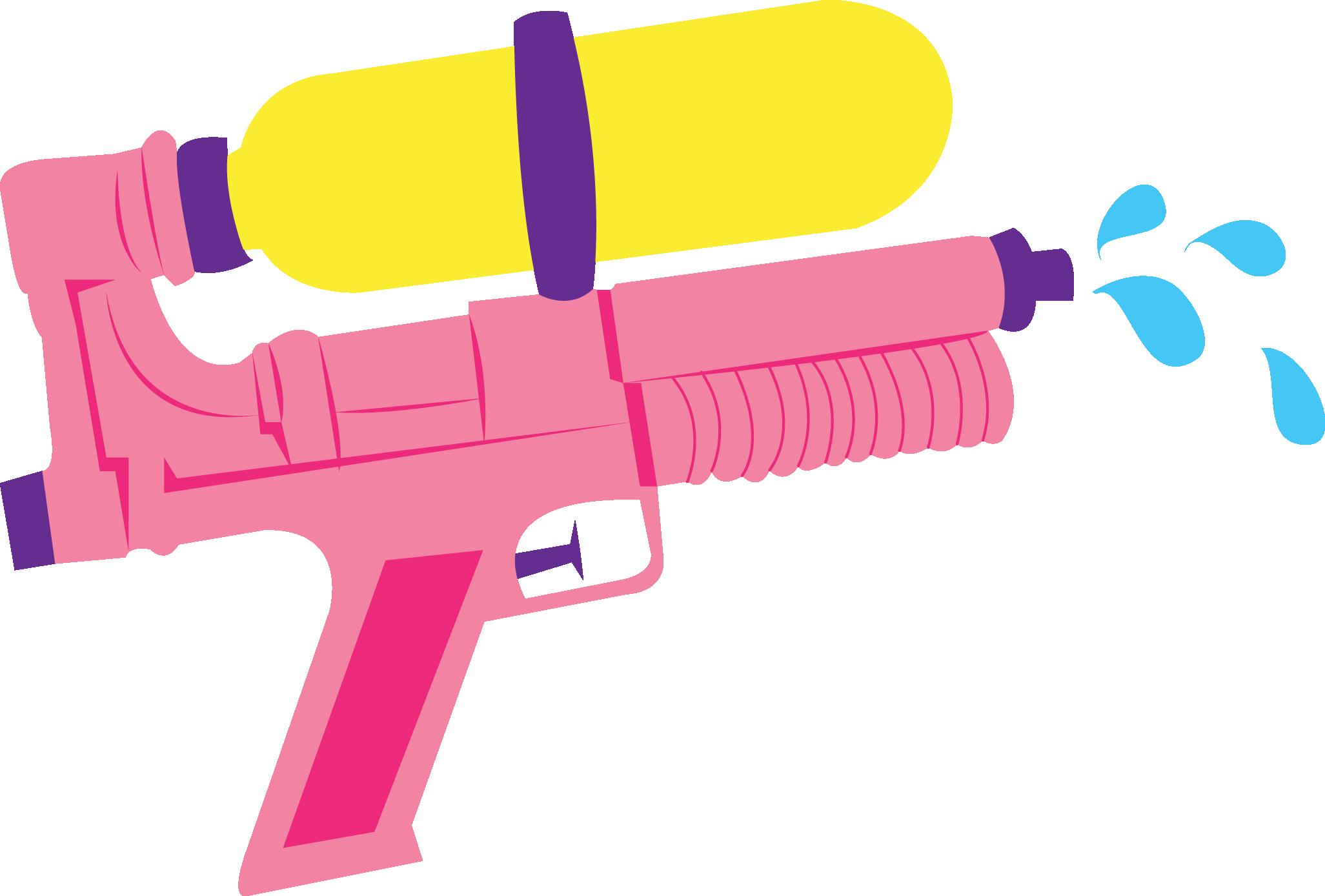 Clipart gun holi. Water firearm toy clip